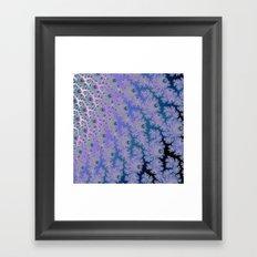 Smokey Blues Fractal Framed Art Print