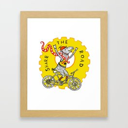 Share the Road with Bikes! Framed Art Print