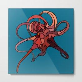 Psychedelic Octopus Metal Print