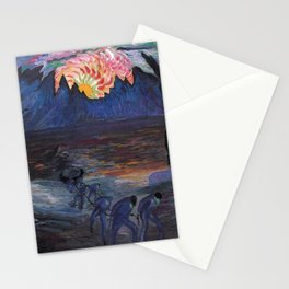 Mountain Sunrise after Fishing nautical landscape painting by Marianne von Werefkin Stationery Cards