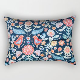 Swedish Folk Art Design II Rectangular Pillow