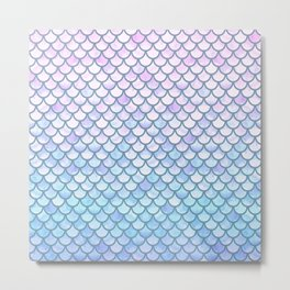 Lavender Mermaid Scales Metal Print