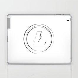 Litecoin LTC White Transparent Dark Edge Logo Laptop & iPad Skin