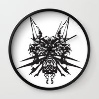 insects Wall Clocks featuring Poisonous İnsects by kartalpaf