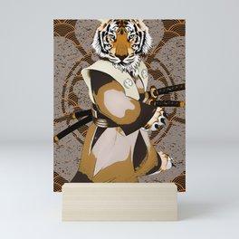 Tiger Samurai, Tiger Ronin, Iaido, Kenjutsu Mini Art Print