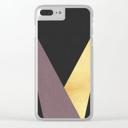 Golden line XII Clear iPhone Case