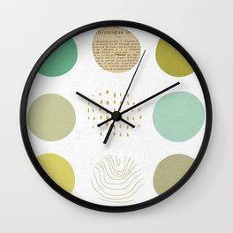 Circles Boxed In Wall Clock