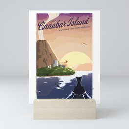 Cinnabar Island Travel Poster Mini Art Print