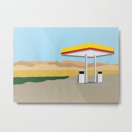 Death Valley Gas Station Metal Print