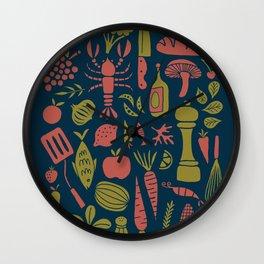 Fresh Produce Wall Clock