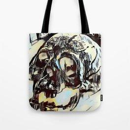 Metal Paper Skull Tote Bag