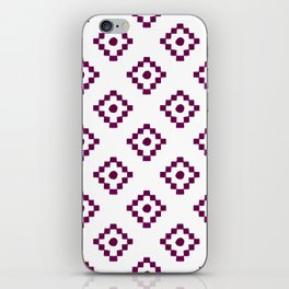 Modern abstract geometrical burgundy watercolor pattern iPhone Skin