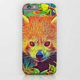 AnimalColor_RedPanda_001_by_JAMColors iPhone Case