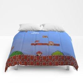 Mario Likes A Mushroom Comforters