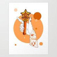 venus Art Prints featuring Venus by scoobtoobins