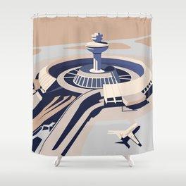 Soviet Modernism: Zvartnots airport, Armenia Shower Curtain