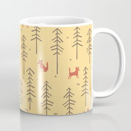 Fox hiding in the forest Coffee Mug