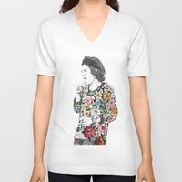 harry V-neck T-shirts featuring Harry  sketch  by Coconut Wishes