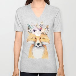 Forest Fox by Nature Magick Unisex V-Neck