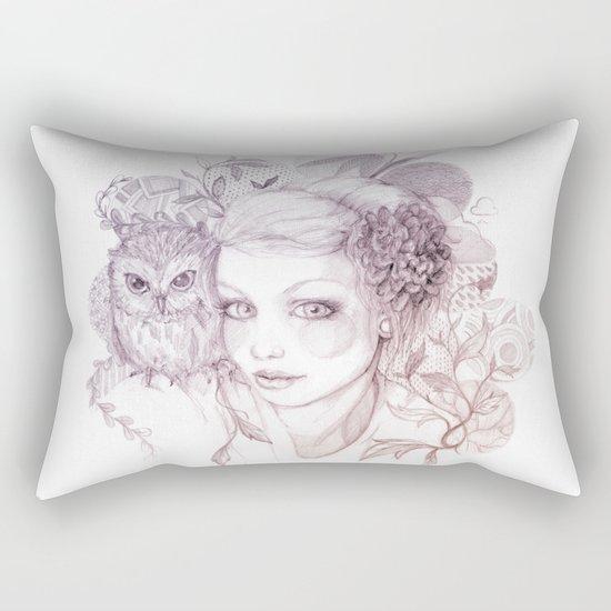 Felt Heart Rectangular Pillow