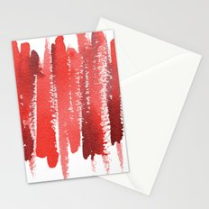 Red Strokes Stationery Cards