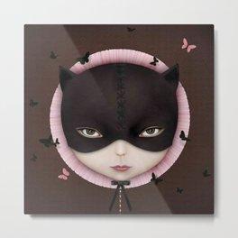 the girl's face Cat Metal Print