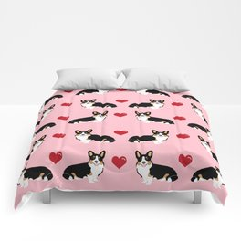 Corgi tri colored welsh corgi dog person corgis love valentines day gifts for dog person Comforters