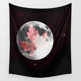 Leaf Raker's moon Wall Tapestry