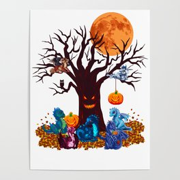 HALLOWEEN DRAGON PARTY (PAINTING) Poster