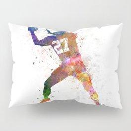 american football player man catching receiving Pillow Sham