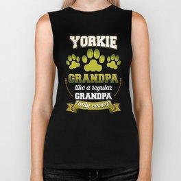 Yorkie Grandpa Like A Regular Grandpa Only Cooler Biker Tank