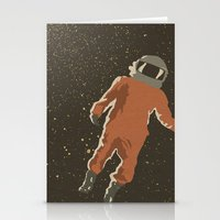 dreamer Stationery Cards featuring Dreamer by Wolves In Space