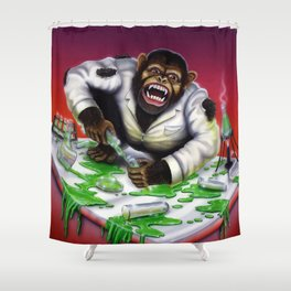 The Deadly Experiments of Dr Eek Shower Curtain
