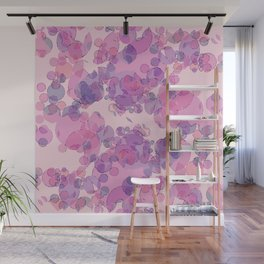 Boiling water in magenta: soft abstract digital art fashionable modern colors Wall Mural