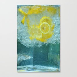 Lemon Water Canvas Print