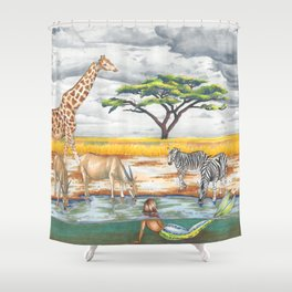 Storms over the Savanna Shower Curtain