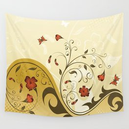 Art Flowers V13 Wall Tapestry