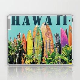 Hawaiian Surfboard Postcard Print Laptop & iPad Skin