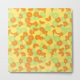 Citrus Carnival Leafless Metal Print