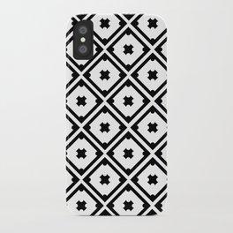 Graphic_Tile Black&White iPhone Case