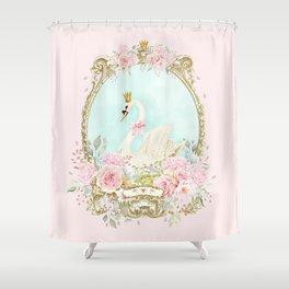 The shabby Swan Shower Curtain