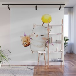 Moogle Bubble Tea Wall Mural
