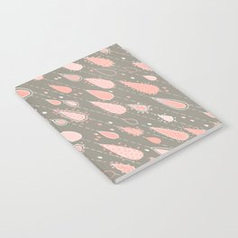 Dusty Rose Rain Drops Notebook