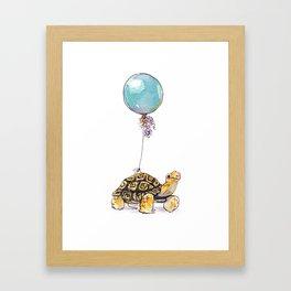 Birthday Tortoise Framed Art Print