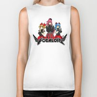 vocaloid Biker Tanks featuring Vocaloid / Babymetal by Tigers and Daises (LadyBeemer)