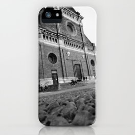 Beautiful view in the center of Pavia iPhone Case