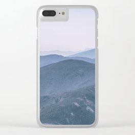Hills landscape Clear iPhone Case
