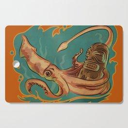 Squid & Tiki Cutting Board