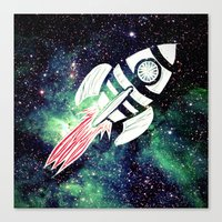spaceship Canvas Prints featuring Spaceship by Cs025