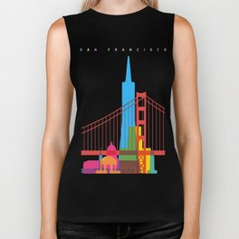 Shapes of San Francisco. Accurate to scale Biker Tank